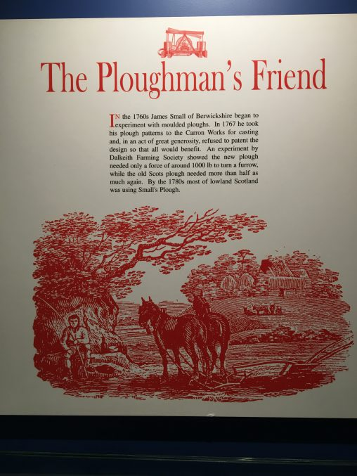 The Ploughman's Friend - explanation sign from a musuem