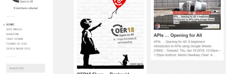 #OER18 share your session promo poster and other photos